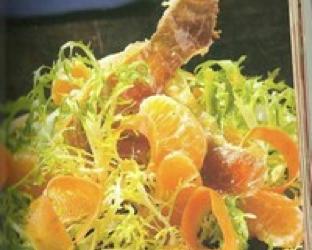 Endibia y ensalada de Frisee y Naranjas