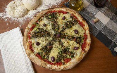 Pizza vegetal de escarola